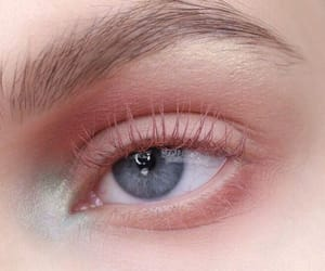pink, blue, and eyes image