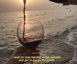 quotes, wine, and beach image