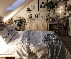 bedroom, decor, and cozy image