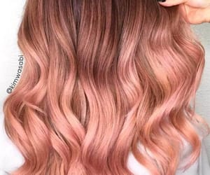 hair, rose gold, and hairstyle image