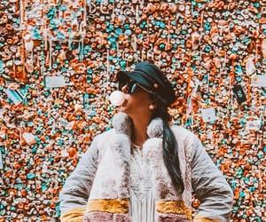 bubble gum, fashion, and gum image