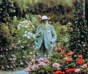 claude monet and Painter image