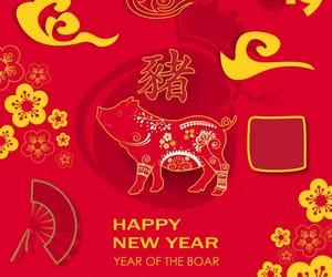 Cerdo, feliz, and happy new year image