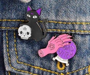 accessories, witch, and enamel pins image