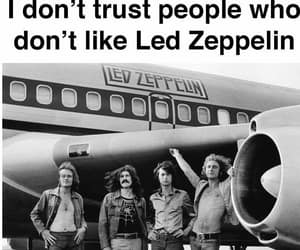 black and white, led zeppelin, and quote image