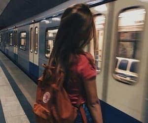 girl, tumblr, and train image