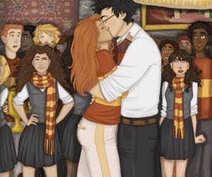 ginny weasley, harry potter, and kiss image