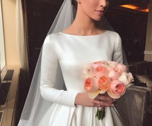 bride, gorgeous, and white image