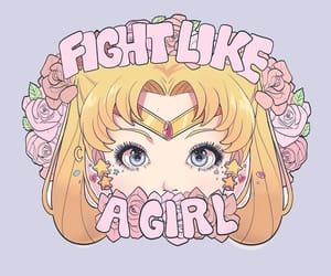 sailor moon, anime, and fight like a girl image