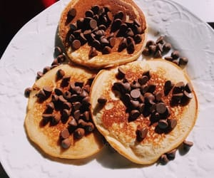 breakfast, chocolate, and pancakes image