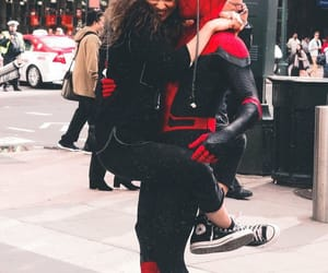 spiderman, zendaya, and tom holland image