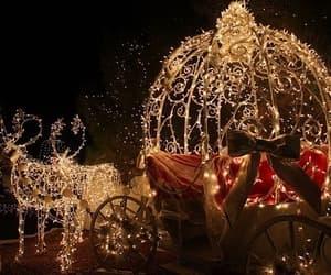 christmas, deers, and lights image
