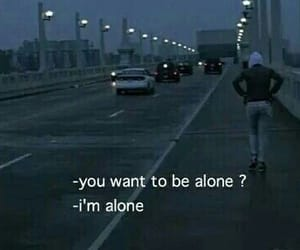 alone, words, and girl image