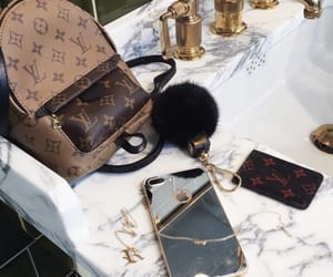 iphone, Louis Vuitton, and bag image