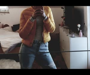 boyfriend jeans, girl, and jeans image