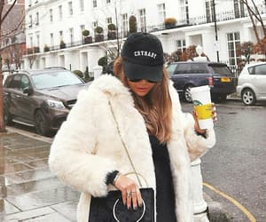 coat, fashion, and starbucks image