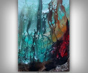 Abstract Painting, etsy, and watercolor painting image