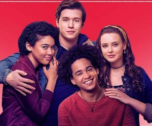 love simon, nick robinson, and katherine langford image