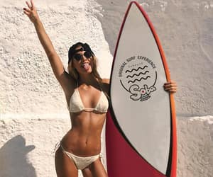 girl, summer, and surf image