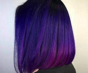 hair, girl, and violet hair image