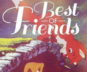 best friends, the fox and the hound, and friends image