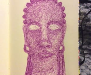 drawing, sketch, and dreadlocks image