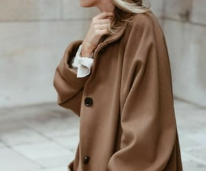 chic, coat, and girl image