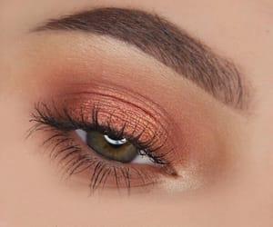 makeup, eyes, and girl image