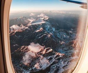 mountains, travel, and airplane image