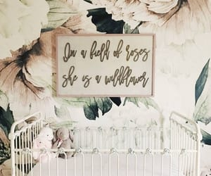 crib, floral, and ideas image