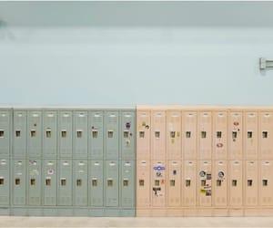 aesthetic, locker, and school image