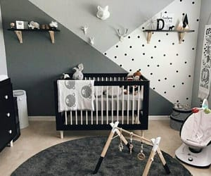 baby, black, and nursery image