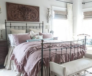 bed and shabby chic image