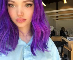 girl, dove cameron, and purple hair image