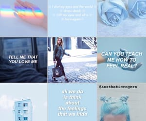 actress, aesthetic, and blue image