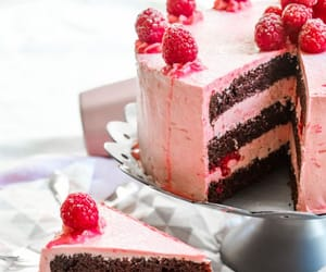 cake and raspberry image