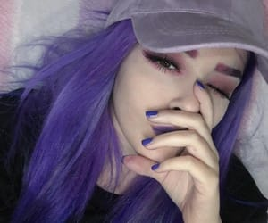 girl, icon, and purple image