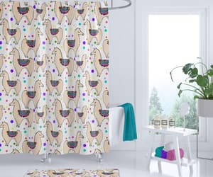 etsy, colorful bathroom, and llama party image