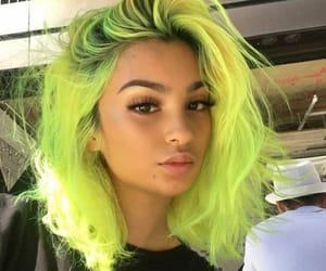 colored hair, girly, and neon image