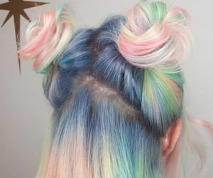 colored hair, pastel hair, and pastel colors image