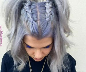 braids, colored hair, and gray hair image