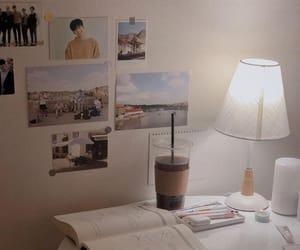 decor, desk, and furniture image