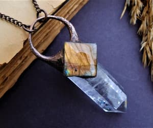 crystal necklace, magick, and witch image