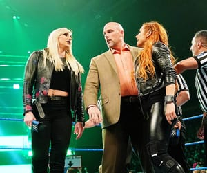 wwe, becky lynch, and charlotte flair image