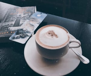 book, calm, and coffee image