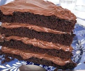 cake, chocolate, and foods image