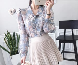 asian fashion, blouse, and flower image