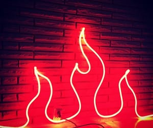 aesthetic, fire, and neon image