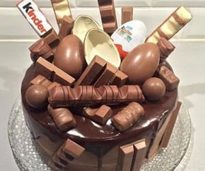 chocolate, kinder, and tasty image