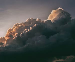 clouds, gold, and gray image
